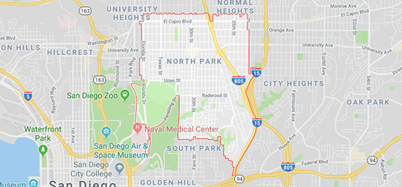 North Park San Diego Map