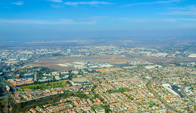 Aerial Shot of Hillcrest and Mission Hills San Diego
